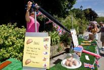 Plenty of stalls including 'Splat the Pasty' at Hayle Celebration Day 2016